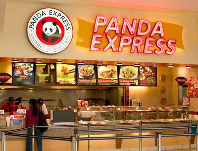 mmmmmmmmm panda express yummy referring food court
